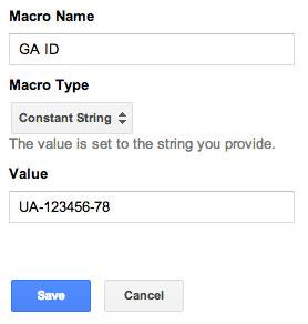 google tag manager id macro