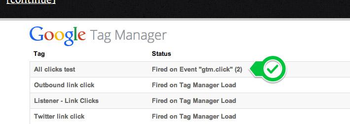 google tag manager debugger working