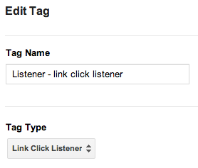 google tag manager link click listener