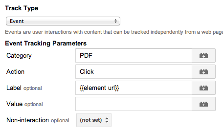 google tag manager track pdf download parameters
