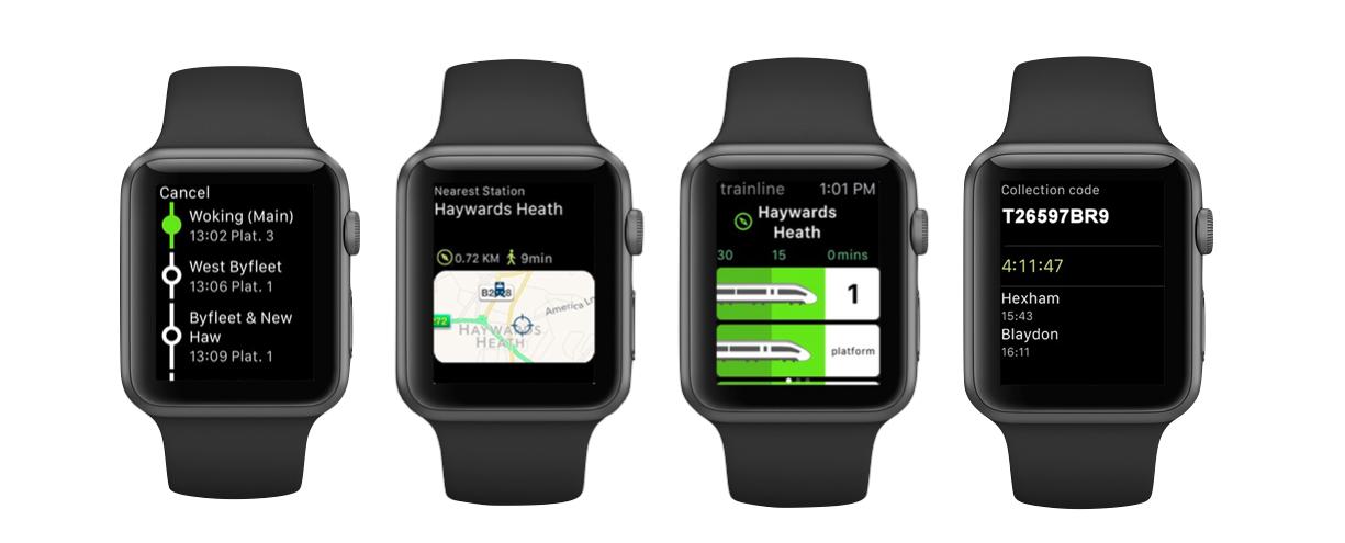 apple watch app screens